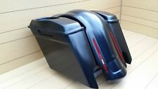 "6""SADDLEBAGS FOR HARLEY DAVIDSON,LIDS & REAR LED FENDER INCLUDED TOURING 95-2013"