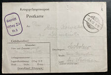 1940 Germany Oflag 2B POW Prisoner of War Postcard Cover To Warsaw GG Poland