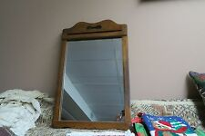 "Vintage Mirror 15"" x 21"" Wood Wooden Frame 18"" x 26"" - Wood Back"
