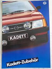 OPEL Kadett accessori BROCHURE GAMMA MAR 1981 TESTO TEDESCO