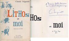C1 Claude SEIGNOLLE - LITHOS ET MOI Losfeld 1960 DEDICACE Autographe PERIGORD