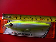 "Bomber 5"" large topwater walk the dog Chartreuse lure, saltwater flats fishing"
