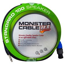 "Monster Cable ProLink Standard 100 Speaker Cable 25 Ft - Speak-On to 1/4"" Plugs"
