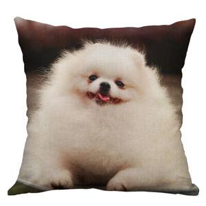 """18""""New Dog Animals Cotton Linen Pillow Case Car Cushion Cover Throw Home Decor"""