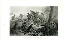CHARGE ON FORT DONELSON, Civil War Battle Tennessee, Steel Engraving (8238)