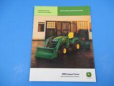 Original John Deere Sales Brochure 2305 Compact Tractors Small Chassis  M1317
