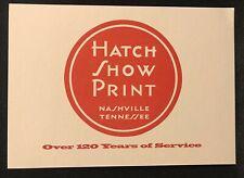 Hatch Show Print 1998 Postcard Nashville Tennessee Reproduced Postcard