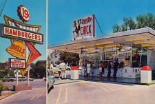 Vintage Bell's Hamburgers Drive-in Myrtle Beach 1960's (photo print of postcard)