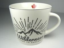 NEW Grace's Teaware Wilderness Dare to Explore Mug Cup Red Maple Leaf Canada