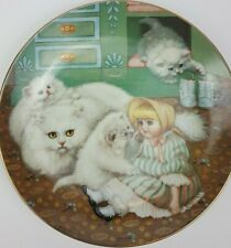 Hamilton Collection Captive Audience By Gre Gerardi 1988 Porcelain Plate Cats