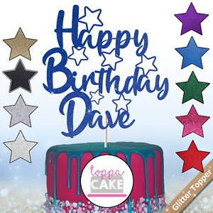 Personalised Happy Birthday Cake Topper Mens Boys Cake Decoration 13th 21st 16th