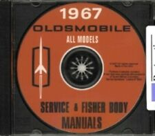 OLDSMOBILE 1967 Shop Manual CD Toronado, 98, 88, Starfire, Cutlass, 442 & F-85