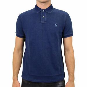 Polo Ralph Lauren Poloshirt Custom Slim Fit Herren Dunkelblau 710680784004