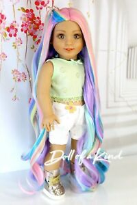 American Girl doll Wig PASTEL RAINBOW| Doll wig replacement | Blythe | OG wig