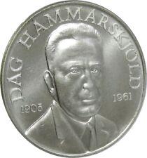 1961 DAG HAMMARSKJOLD MEMORIAL STERLING SILVER MEDAL BY HERALDIC ARTS CO. SUPERB