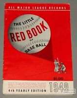 Rare 1949 Baseball Spalding's The Little Red Book
