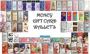 Money Gift Card Wallet- Birthday, Open, Ages, Baby, Wedding, Sympathy, Christmas