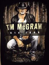 Tim Mcgraw Countdown To Sundown 2014 Tour Small T Shirt Country Out Of Print