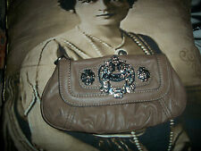 GUESS Sweet Dark Taupe Faux Leather  Clutch Bag
