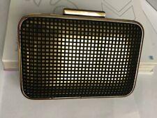 Lotus Dixie Clutch Bag Black Micro Fibre/ Gold