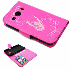 Flip Stand Phone Pink Leather Wallet Case Cover For Samsung Galaxy Ace 4 G357