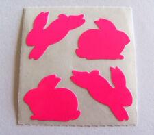 Vintage Sandylion Neon Pink Bunny Rabbit Sticker Mod