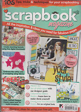 SCRAPBOOK MAGAZINE UK #75 SEALED WITH FREE KATE HADFIELD DESIGNS HIPSTER KIT.