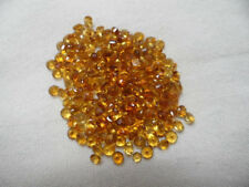 Natural Citrine 3mm Round Cut 50 Pieces Top Quality AA Color Loose Gemstone AU
