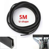 16ft Rubber Seal Car Door Edge Trim Weather Strip Universal U Shape EPDM 5Meters