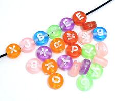200 Mixte Perles Spacers Lettre Acrylique 7mm