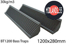 2 Professional Acoustic Foam 3 ft 11¼ in (1200mm) Bass Traps Sound Treatment