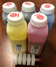 """(200g x 5) Toner Refill for Xerox Phaser 7760 7760DN, DX """"ECONOMY SIZE"""" + 5 Chip"""