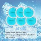 6Pcs Small Round Ice Gel Pack Hot Cold Therapy Heating Cooling Cloth Backing Kit