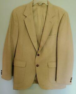 Anthony Allan Mongolian Camel Hair Men's Tan Blazer Two Button Single Vent 46L