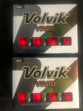 New -2 Dozen VOLVIK VIVID - RED Matte Finish (3-Piece) GOLF BALLS  FREE SHIPPING