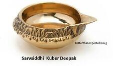 Set Of 2 Brass Kuber Diya Hindu Lakshmi Puja Oil Lamp Navratri Diwali Christmas