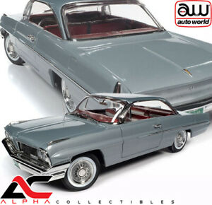 AUTOWORLD AMM1254 1:18 1961 PONTIAC CATALINA (RICHLAND GRAY)