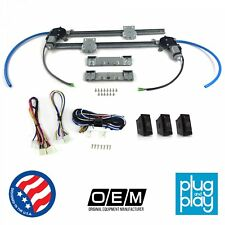 Ford Bronco 1966 - 1996 Power Window Regulator Kit w/ 3 LED Switches fomoco v8