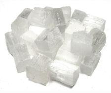 NATURAL SPECIMEN - (1) SATIN SPAR SELENITE Chunk Crystal w/Card - Healing Stone