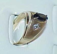 10K Men's Black Star Sapphire Yellow Gold RING Size 11 Estate Vintage