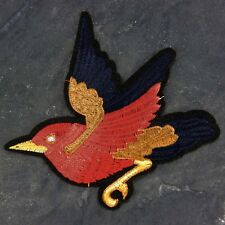 Red Bird Large Beautiful Embroidered patch Sew or Iron on cloth badge P6