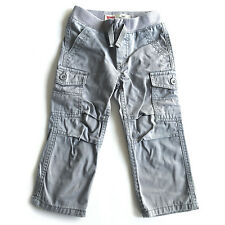 Levi's Baby Boys Toddler 514 Straight Pull-On Cotton Cargo Pants, Grey, 2T - EUC