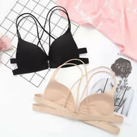 Women Bras Seamless Underwear Bra Push Up Bralette Wire Free Strap BrassiereJ`AU