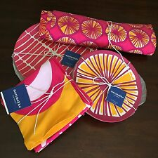 Marimekko for Target Lot Pink Yellow Complete Set 8 Plates 4 Placemats 4 Napkins