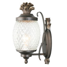 Portfolio 15.25-in H Brushed Bronze Outdoor Wall Light Sconce Pineapple Lantern