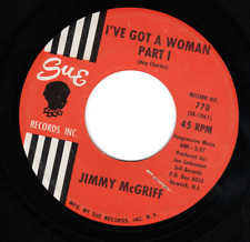 """Jimmy McGriff Sue 770 """"I'VE GOT A WOMAN PART 1&2"""" (GREAT BLUES) 45 RECORD"""