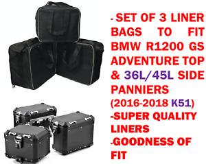 PANNIER LINER BAGS & TOP BOX BAG FOR BMW R1200GS ADVENTURE 2016-2018 36L/45L