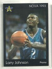 Larry Johnson 1993 Star Company Charlotte Hornets Nova Promo Card (100 Made)