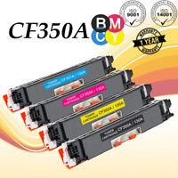 4 Toner Cartridge CF350A 130A Black Color For HP LaserJet Pro MFP M176 M177fw