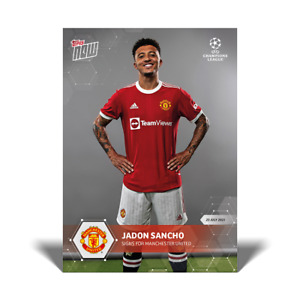 Jadon Sancho Manchester United UEFA Champions League Topps Now 2021 Card #PS03